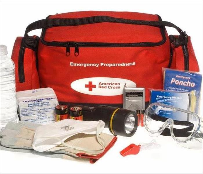 Red Cross emergency ready bag
