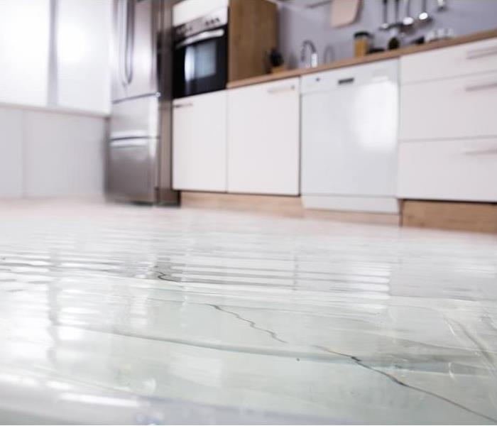 flooded kitchen floor